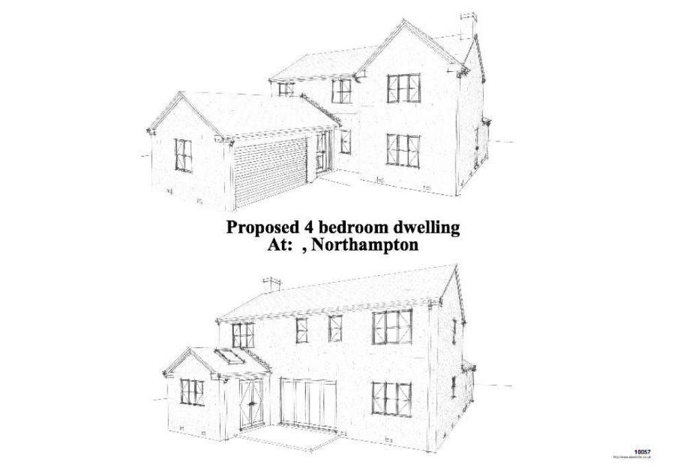 Example Building Plans Developer Bedroom Detached House
