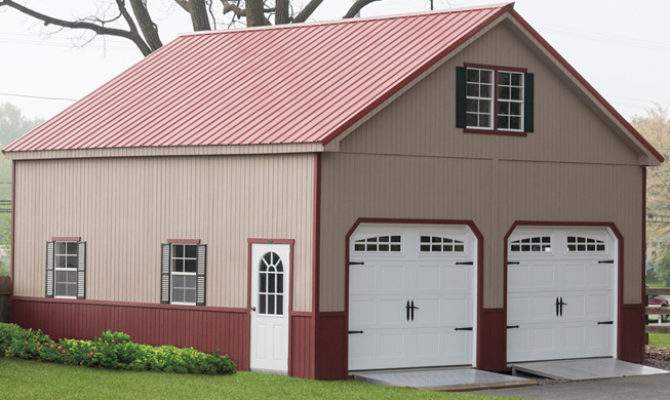 Exceptional Two Story Garage Kits Amish