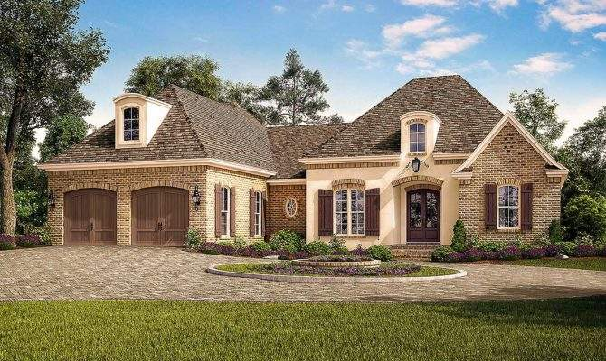 Exclusive Acadian French Country House Plan Vaulted