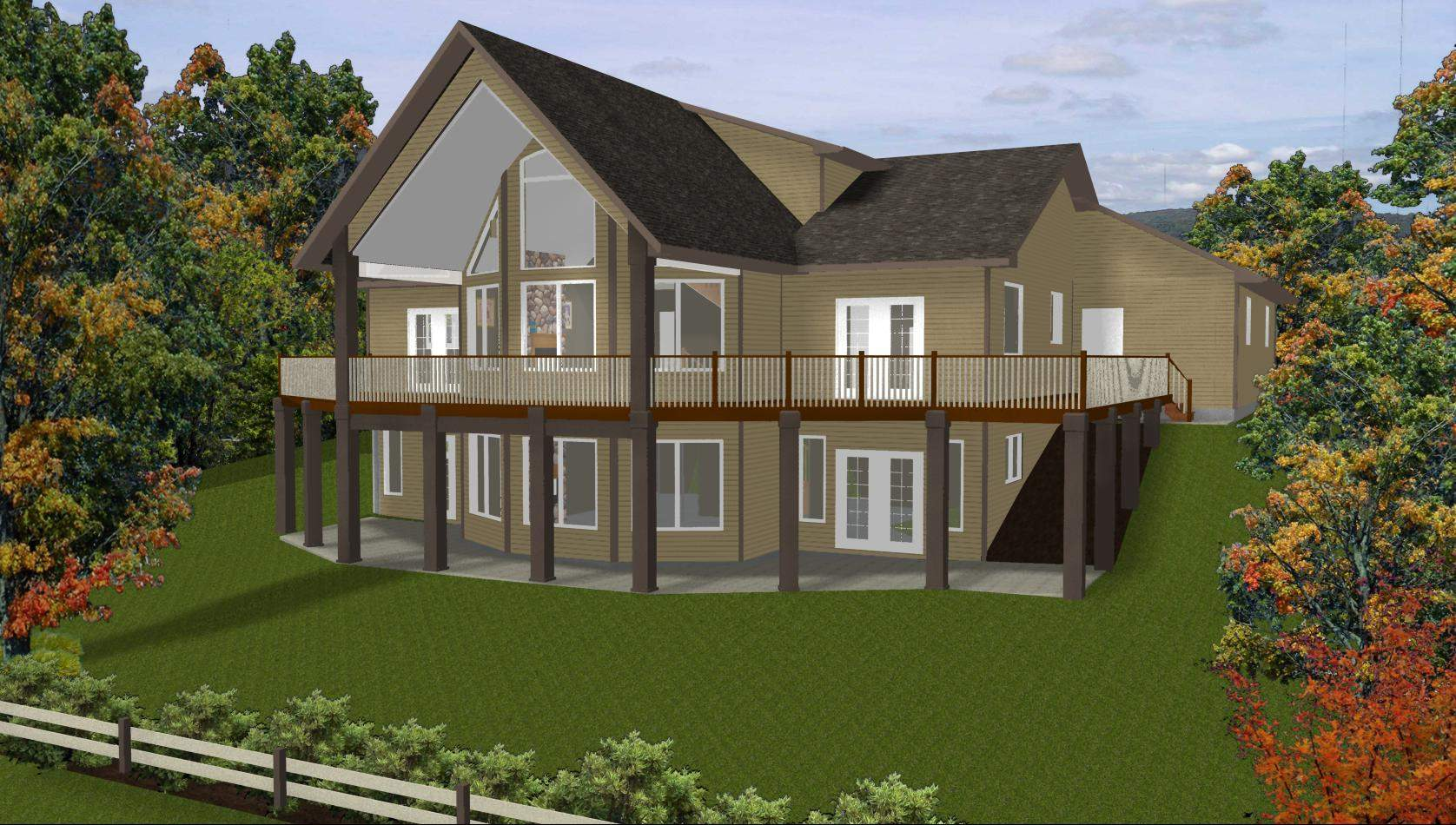 Exposed Basement House Plans Walkout