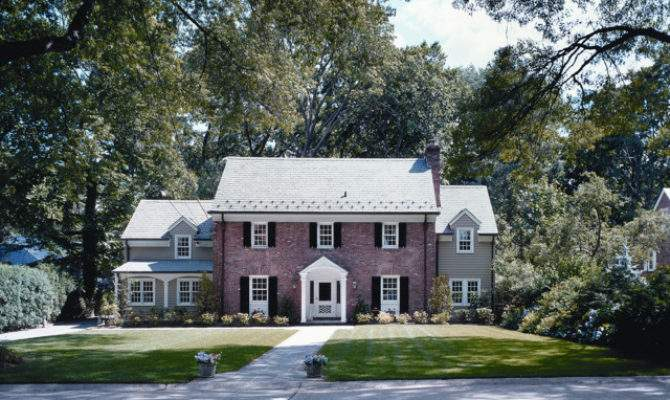 Exterior Brick Colonial Addition Renovation