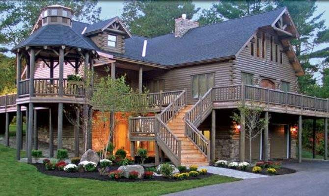 Extreme Log Home Showcase Katahdin Cedar Homes