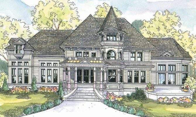 Eye Catching Queen Anne Style Victorian Home Plan