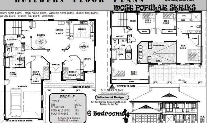 Federation Style Storey Home Floor Lower Plans