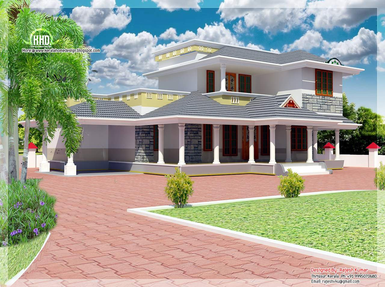 Feet Double Floor House Elevation Design Plans