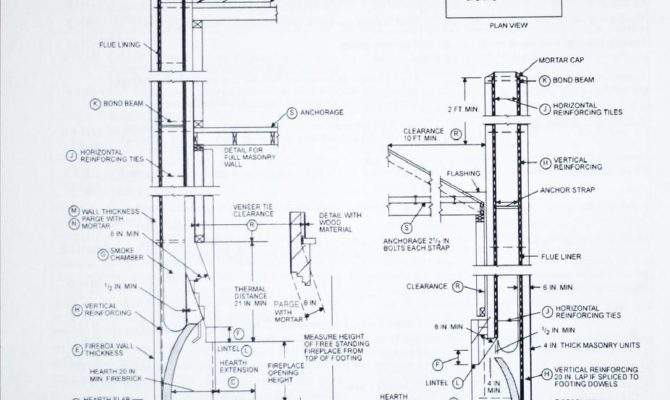 Fireplace Drawing Details