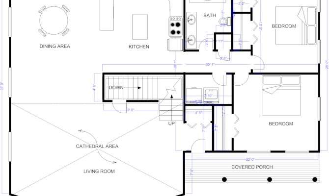 Floor Plan Example Cape Style House