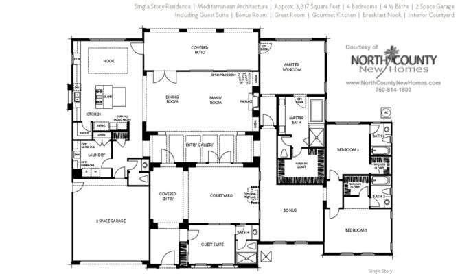 Floor Plan Seaside Ridge Encintas