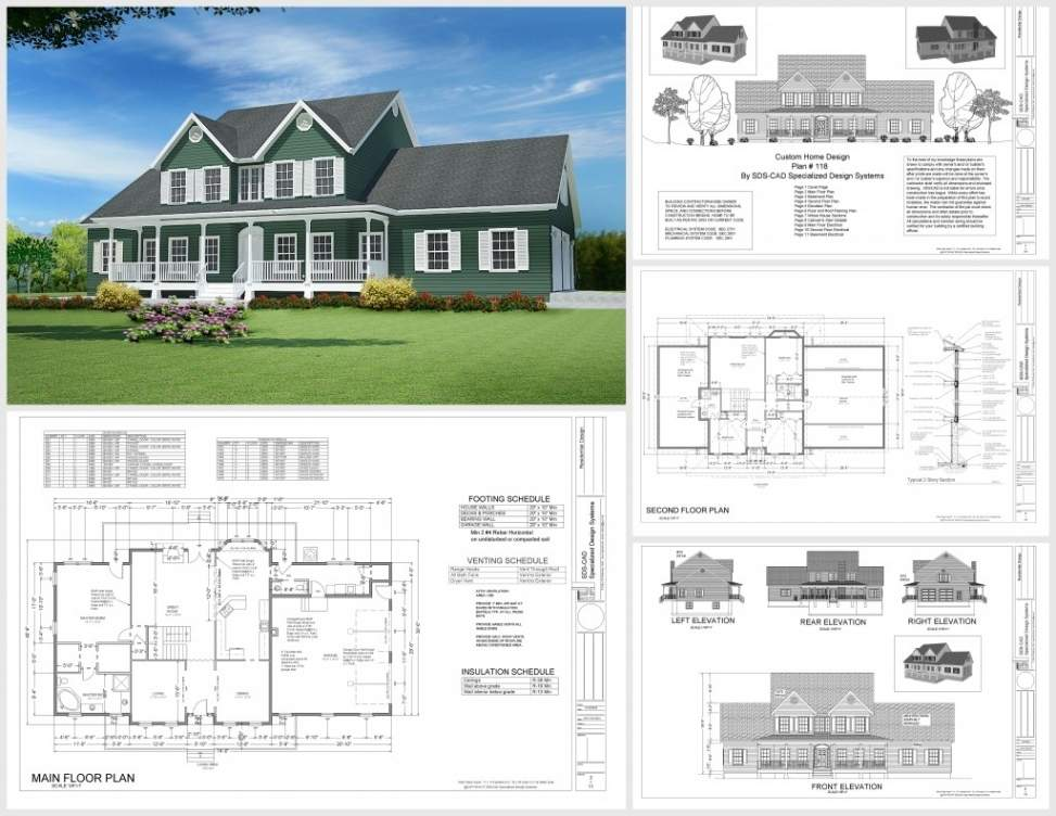 Floor Plans Building Costs Country House Plan