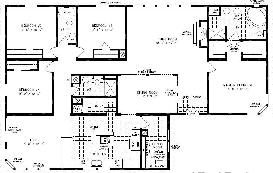 Floor Plans Square Feet Bedroom Home Deco