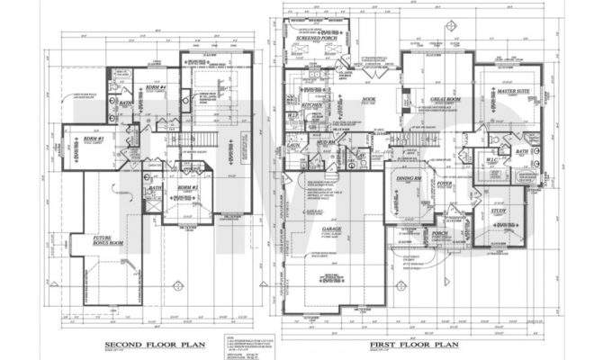 Foundation Plans Houses House Drafting