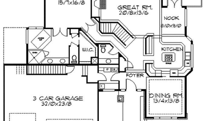 Frank Lloyd Wright Inspired Home Plan