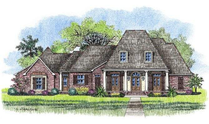 French Country Acadian House Plans Homes