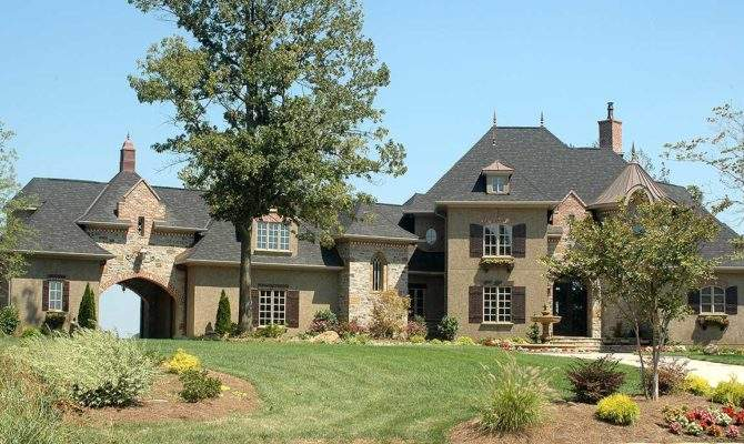 French Country Estate Home Plan Floor