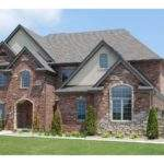 Front Exterior Executive Style Custom Home Sycamore