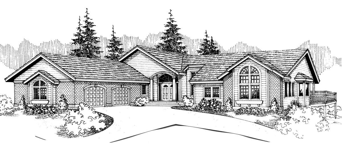 Front House Plans Rear Panoramic