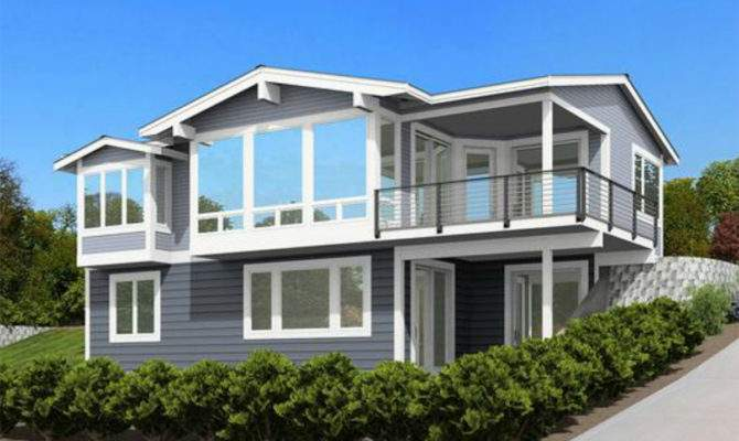 Front Sloping Lot Architectural