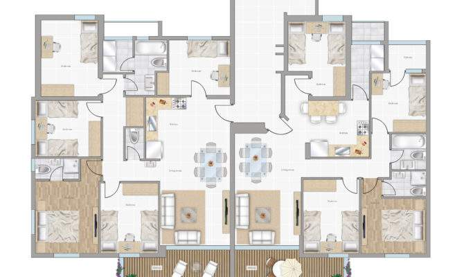 Furniture Floorplan Top Down Style Psd Model
