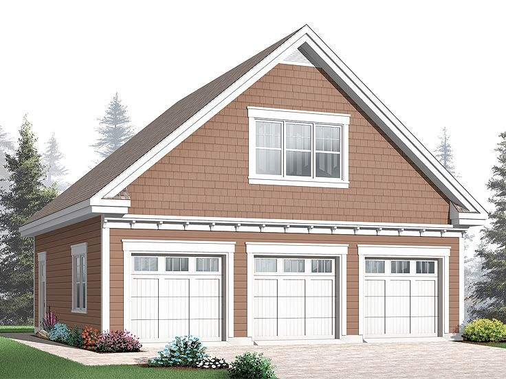 Garage Loft Plans Three Car Plan