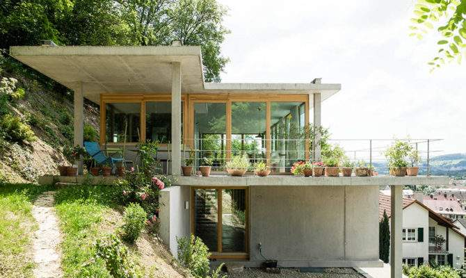 Gian Salis Builds House Slope Southern Germany