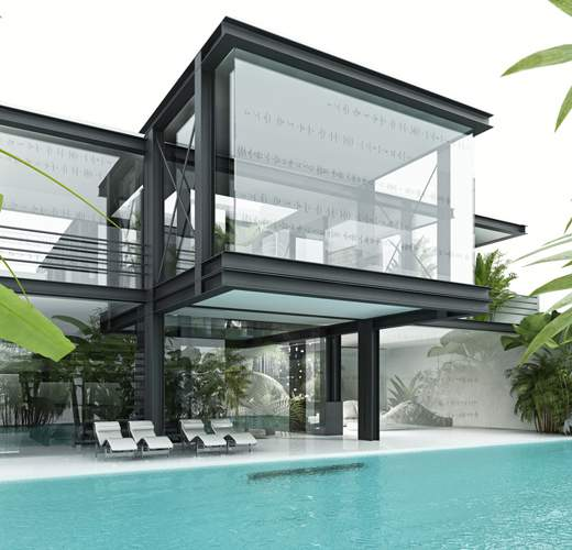 Glass House Art Architecture