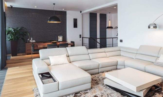 Gorgeous Interior Two Story Penthouse Apartment Boasting