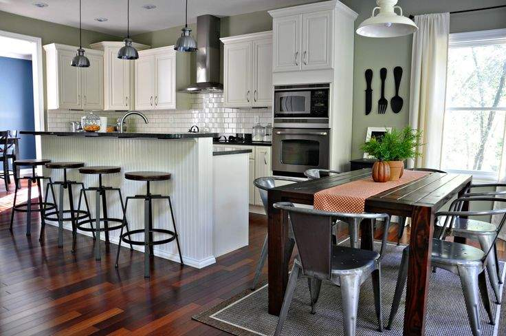 Great Open Kitchen Dining Room Home Pinterest