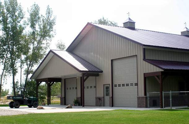 Great Residential Metal Building Porches