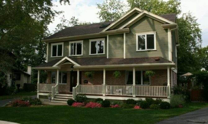 Green Two Story Ranch House Touch Country Pinterest