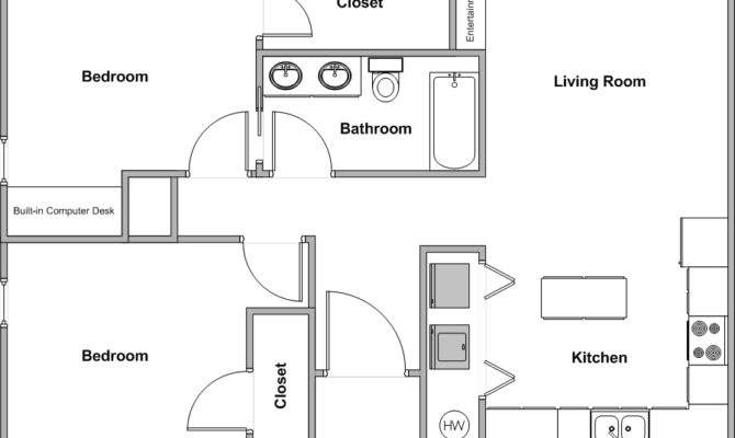 Griffin Park Duplexes Bedroom Bath Floor Plan