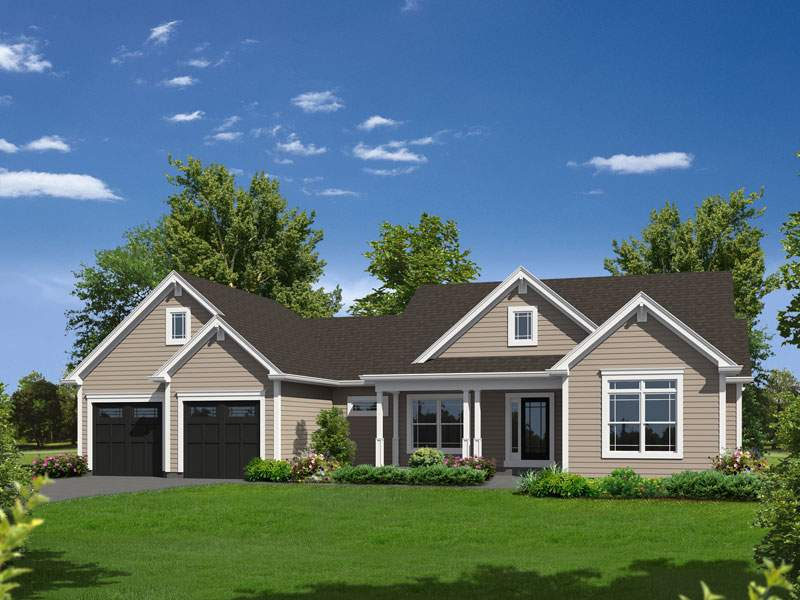 Hailey Country Ranch Home Plan House Plans