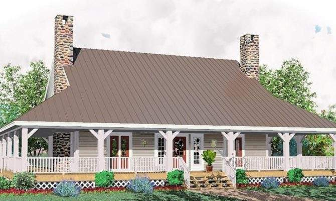 Half Story Bedroom Bath Country Style House Plan Plans