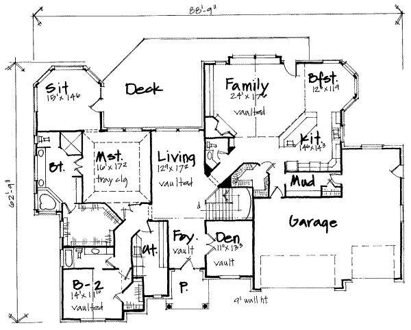 High Bedroom Home Plans House