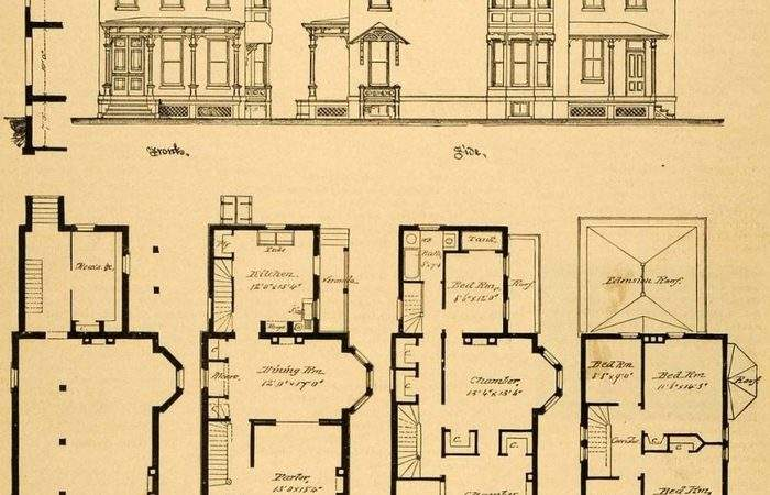 Historic Mansion Floor Plans House Home Designs Old Book