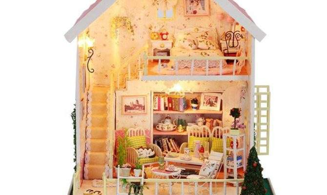 Home Decoration Crafts Diy Doll House Large Wooden Dolls