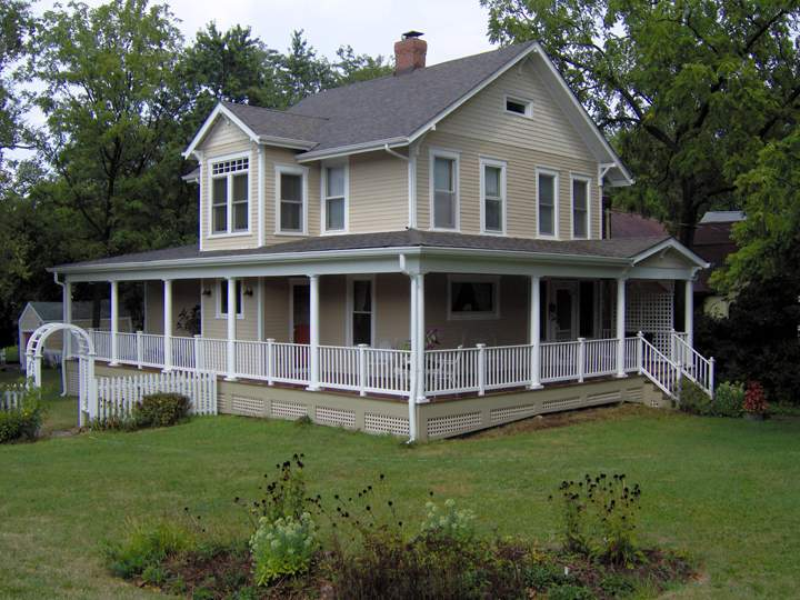 Home Front Porches Wrap Around Replicated Historic