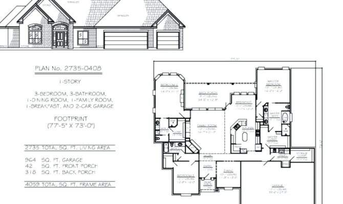 Home Plans Attached Garage House Plan