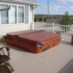 Home Plans Deck Hot Tub Building