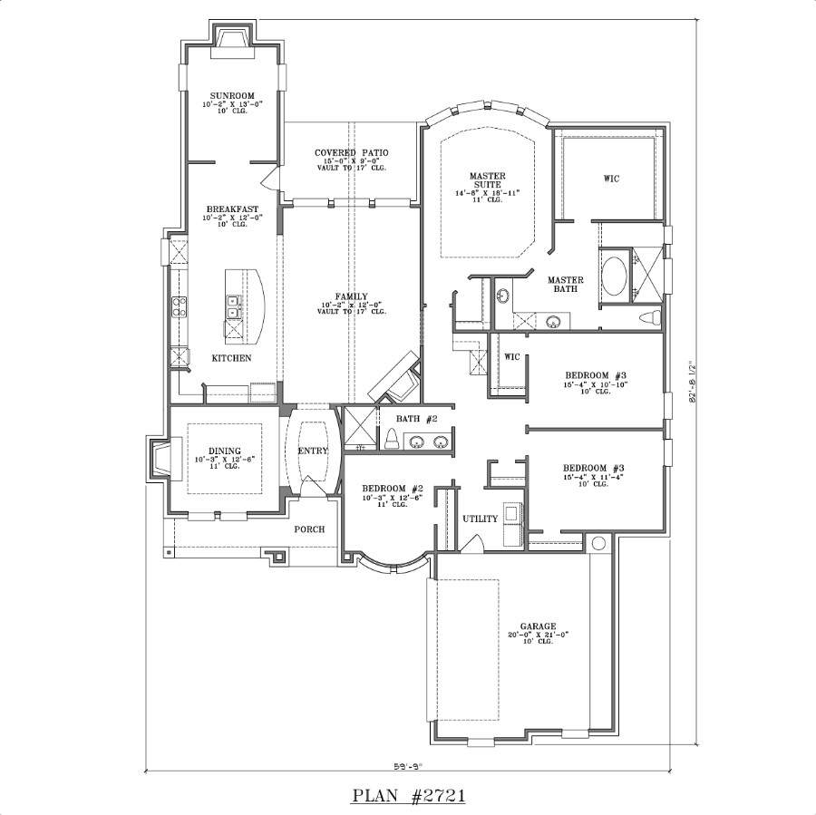 Home Plans One Half Story House