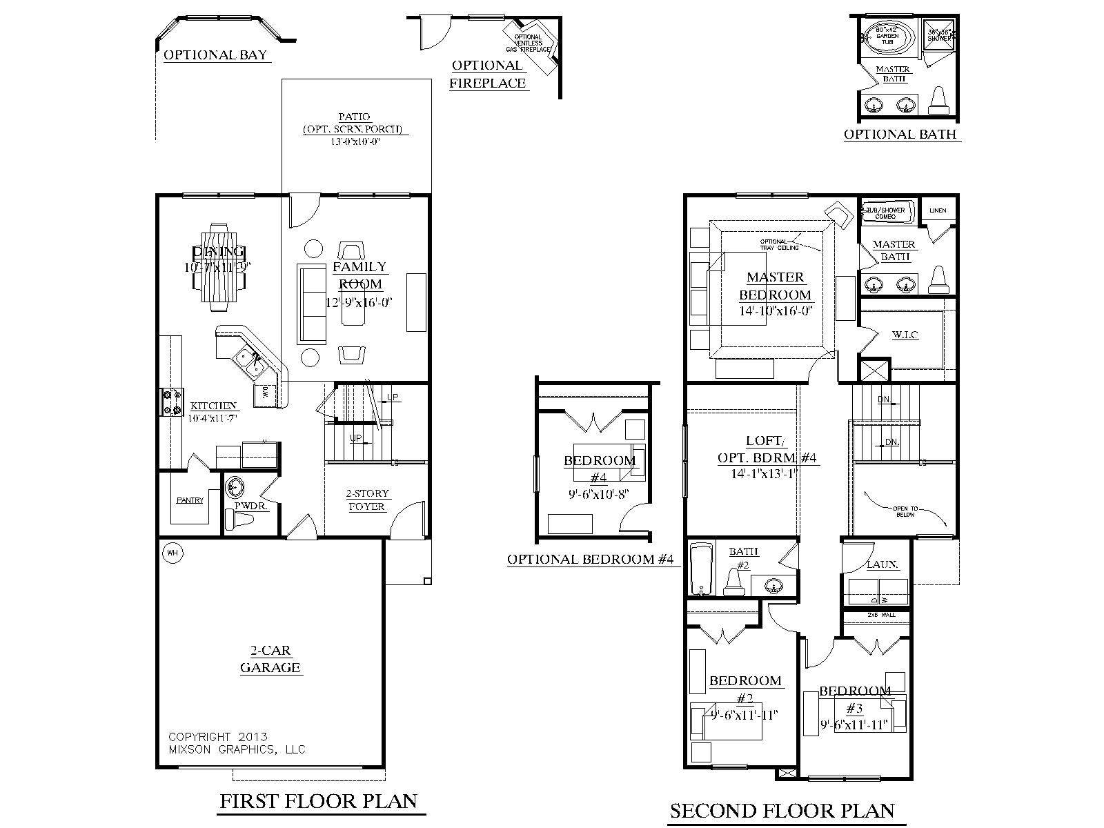 Homes Plans Living Area Upstairs Archdale Schematic Plan