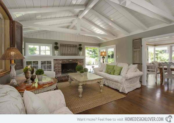 Homey Country Cottage Decorating Ideas Living Rooms