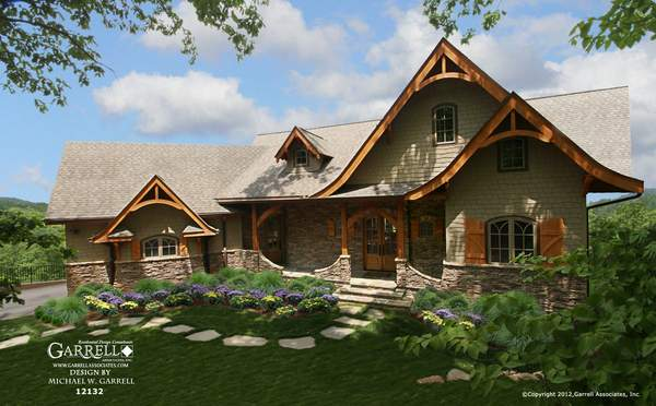 Hot Springs Cottage House Plan Gable Country Farmhouse