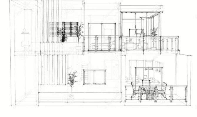House Architectural Drawing Photography