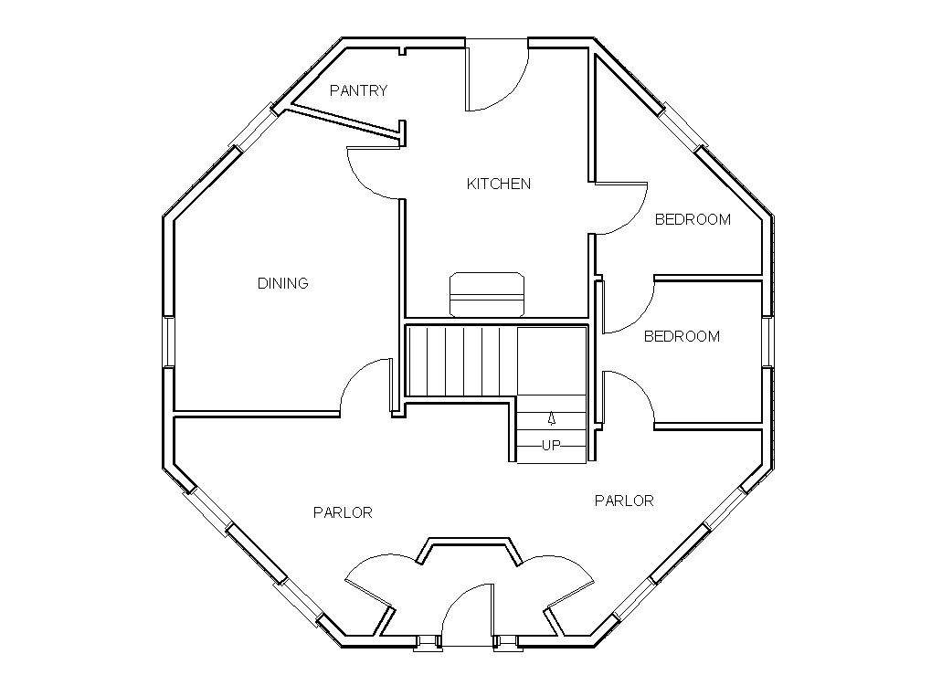House Floor Plan Gunnison Octagonal