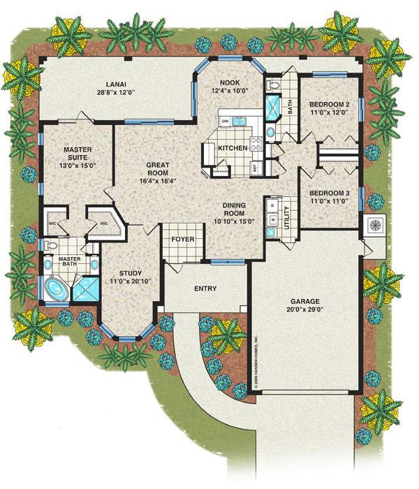 House Floor Plans Bedroom Bath Garage Savae
