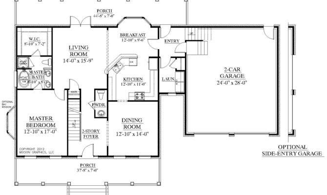 House Plan Bedrooms Baths Two Story Foyer Master