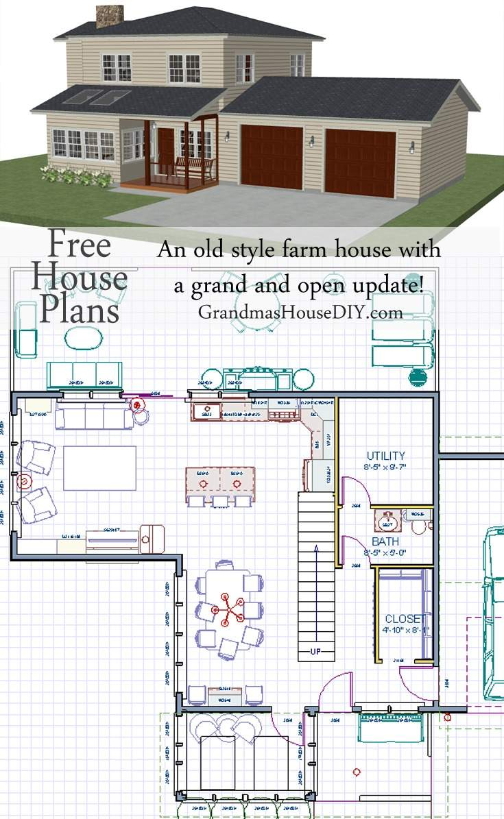 House Plan Old Style Farm Grand