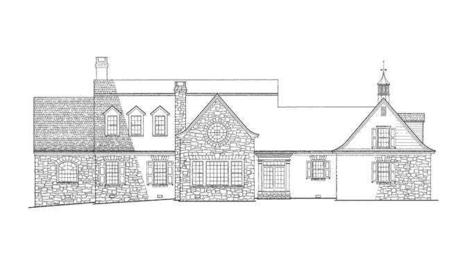 House Plan Rear Elevation Plans More
