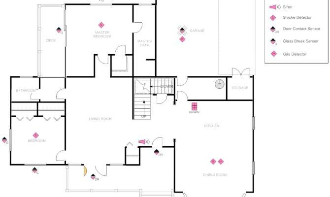 House Plan Security Layout