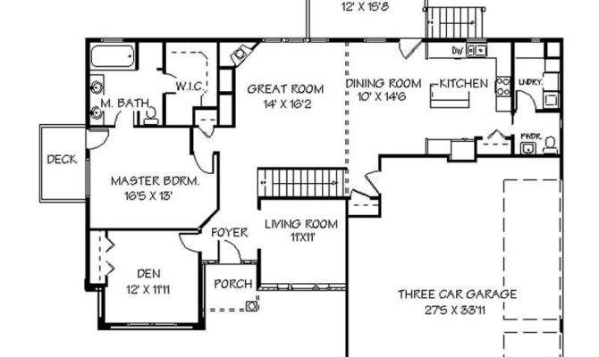 House Plans Basements One Story Awesome Bright Idea